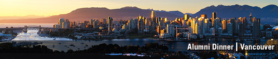 Skyline of Vancouver city