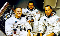 Three astronauts from Apollo 8