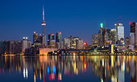 Toronto Harbour Skyline at Night
