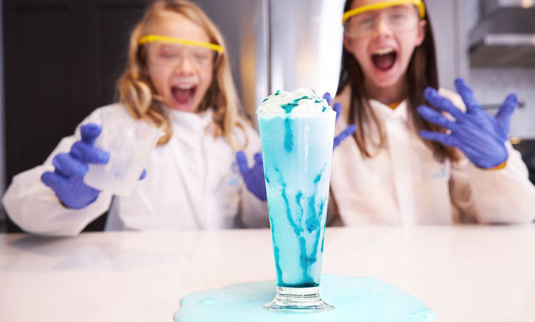 Image of children mixing up a concoction