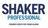 Text overlay Shaker Professional Premier Events for Young Alumni