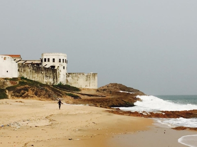 shoreline in Cape Coast, Ghana