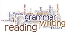 word cloud comprised of words related to learning the english language