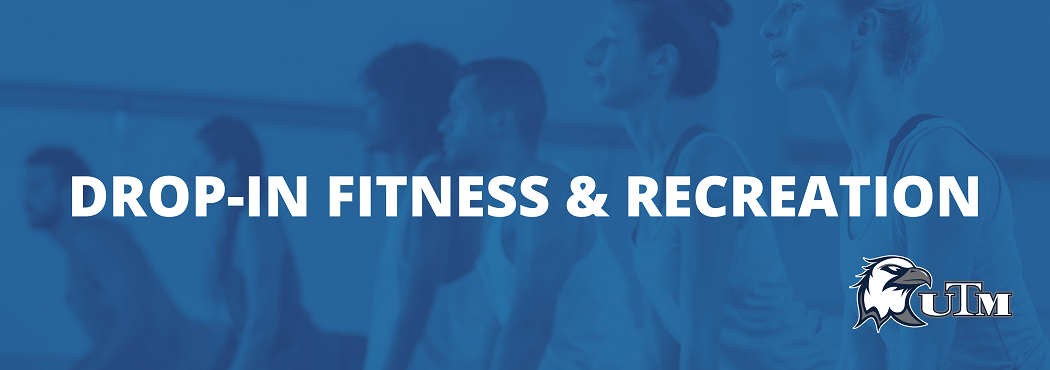 drop in fitness and recreation banner