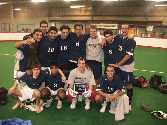 Seneca College Men's Indoor Soccer Tournament Champions