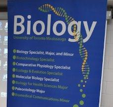 Biology poster listing programs offered