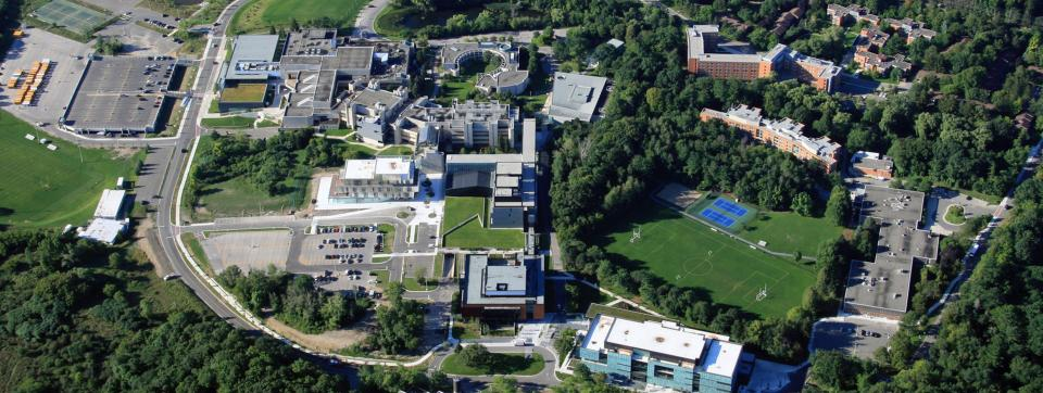 aerial view of UTM campus