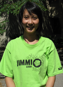 Look for people wearing this green Jimmi Crew t-shirt at the fair!