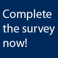 "blue box with white text reading ""Complete the survey now"""