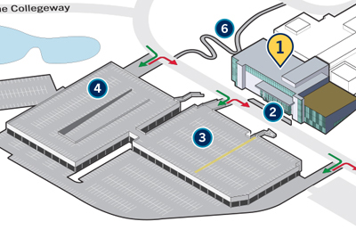 map of clinic at UTM with accessible access