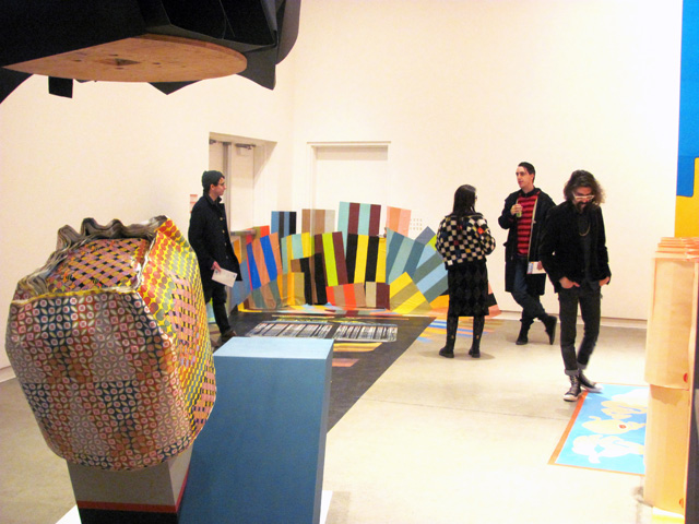 Installation view of Seripop exhibition in the Blackwood Gallery