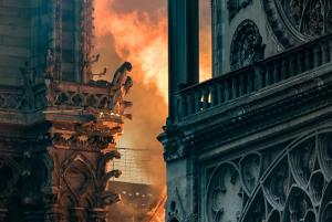 Notre-Dame on fire image