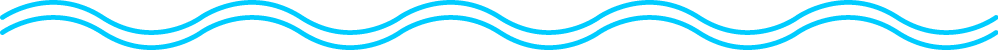 Stylized image of water represented by two blue wavy lines