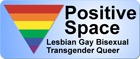An LGBTQ positive space symbol.