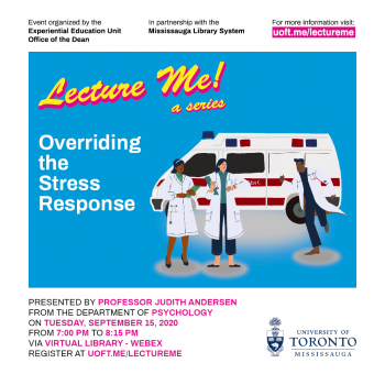 September 2020 Lecture Me! a series visual with ambulance and first responders