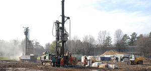 Drilling the boreholes
