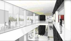 Artist's rendering of the new Instructional Centre Complex
