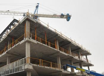 Photo showing a building under construction