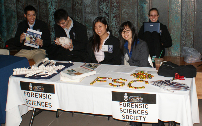 Student volunteers from the UTM Forensics Society