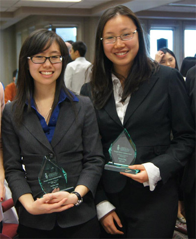 Jessica Lam & Sharon Ling - Principal's Involvement Award 2012 Recipients