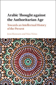 Hanssen - Arabic Thought against the Authoritarian Age book cover
