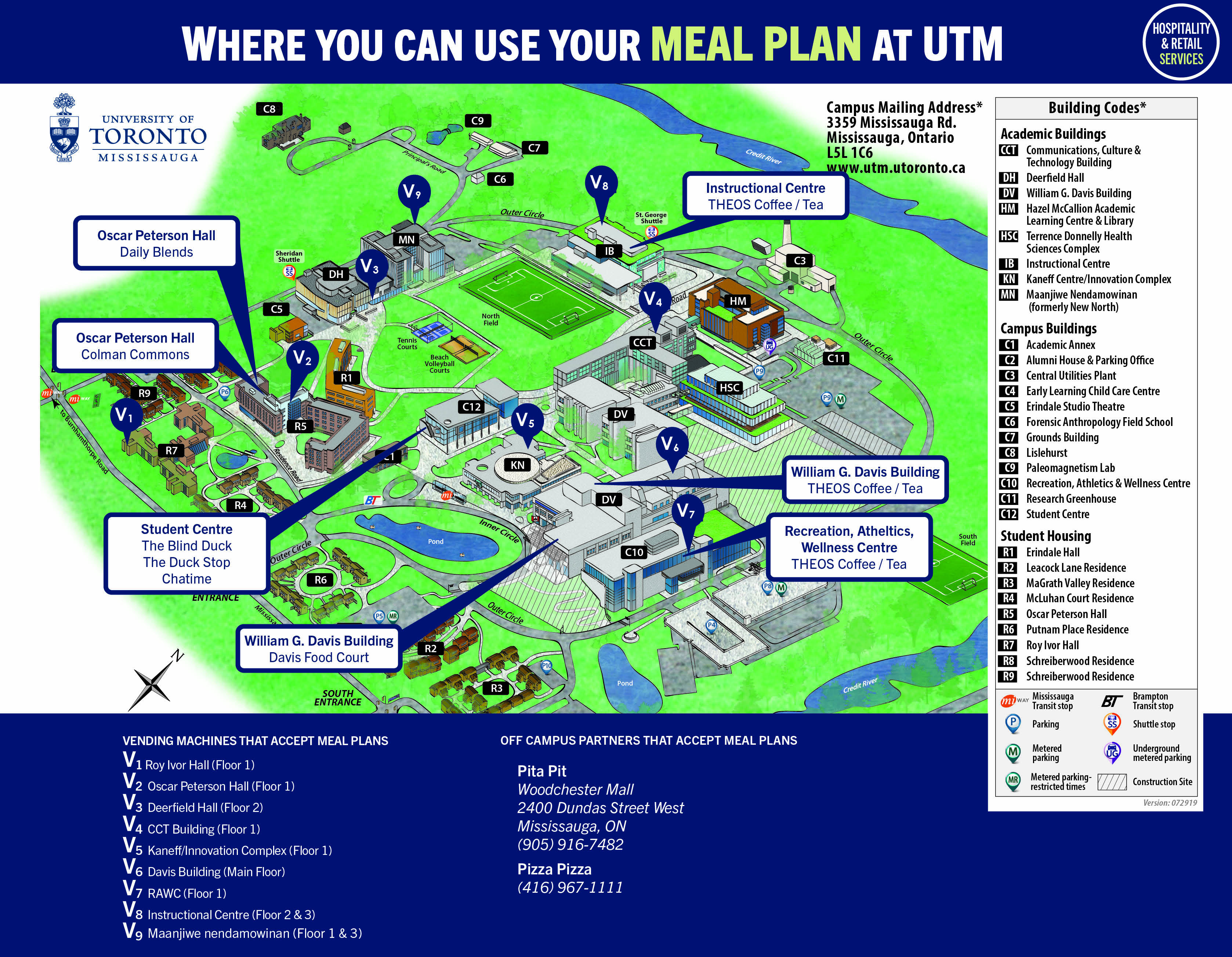 Meal Plan Food Service Locations