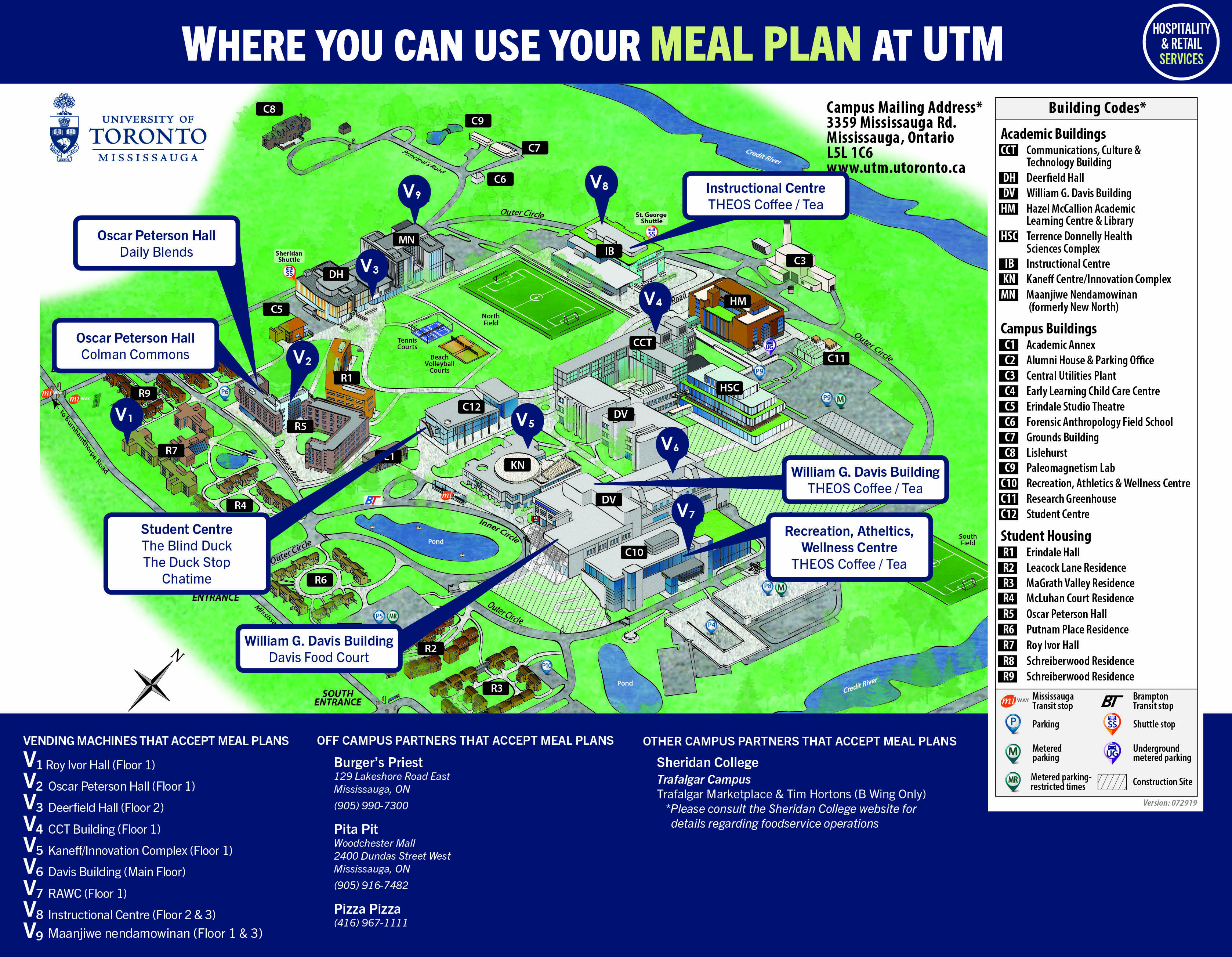 Where to dine on campus