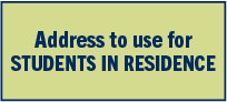 Address for Students in Residence
