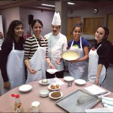 Chef Sandeep and UTM students enjoying community kitchen