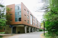 One of the many residence buildings on campus.