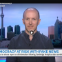 Prof. Brett Caraway's screenshot from the interview with CTV News