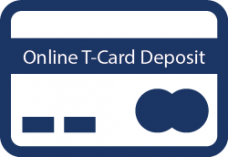 Online T-Card deposit using credit card