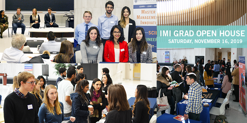 Photos of students, staff, and faculty from past Open House events | IMI Grad Open House - Saturday, November 17, 2018