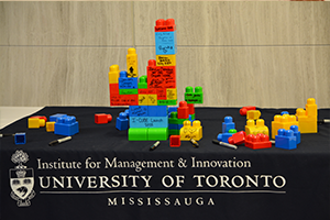 Lego signed blocks for the opening