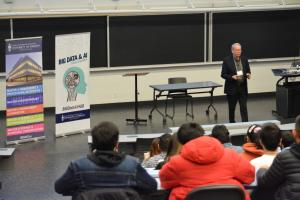 Prof. Kevin Yousie welcomes students to competition