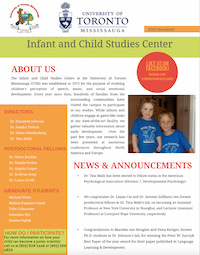 infant and child studies newsletter article