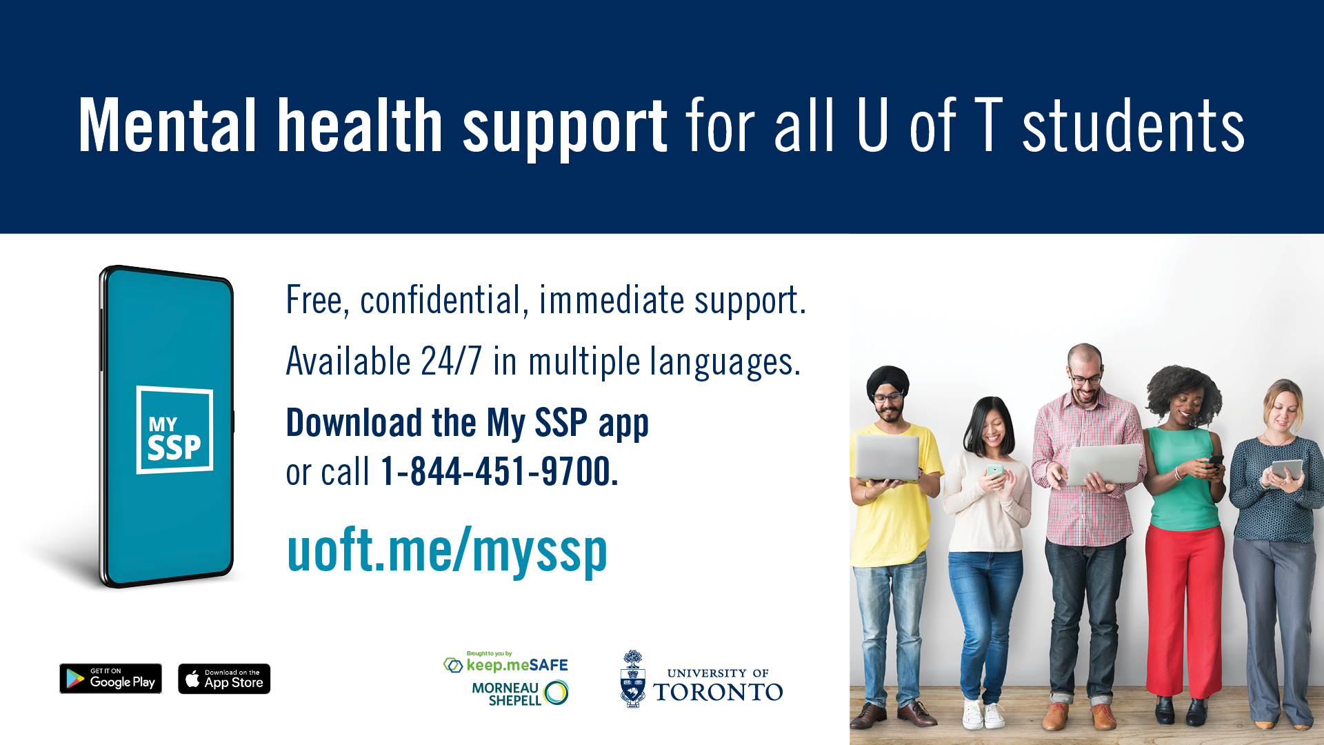 Mental Health support for all U of T students