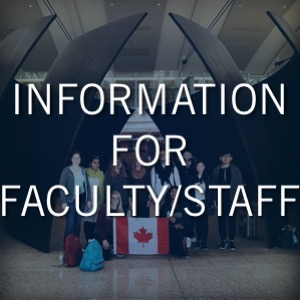 Information for Faculty & Staff