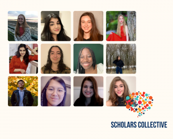 Scholars Collective head shots of 12 students on the Scholars Collective Committee