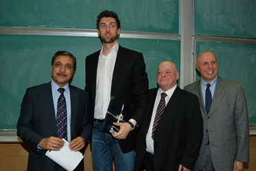 Picture of Principal Deep, Andrea Bargnani, Professor Mollica and Professor Lettieri