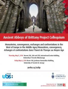 Ancient Abbey of Brittany Colloquium poster