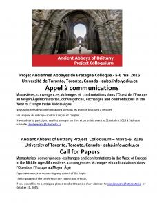Call for Papers - Ancient Abbey of Brittany Colloquium