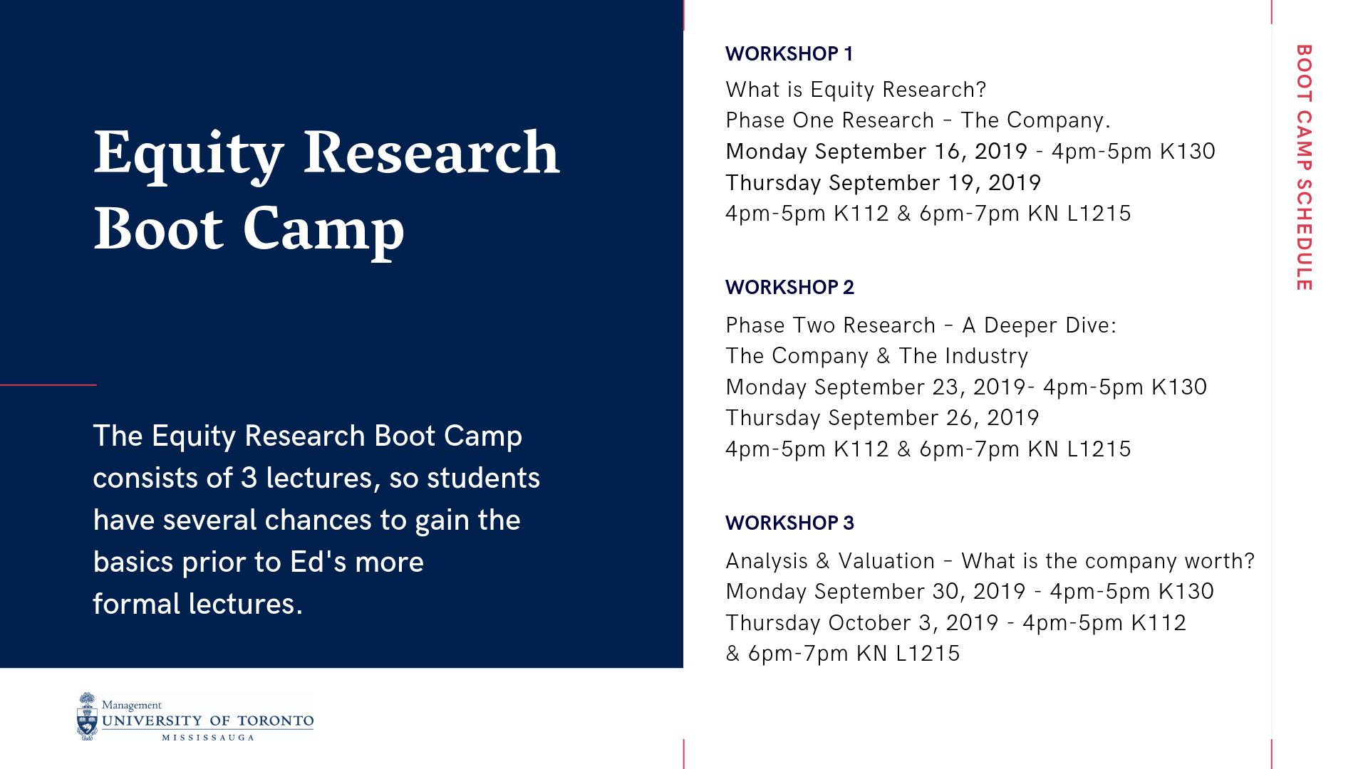 Equity research boot camp
