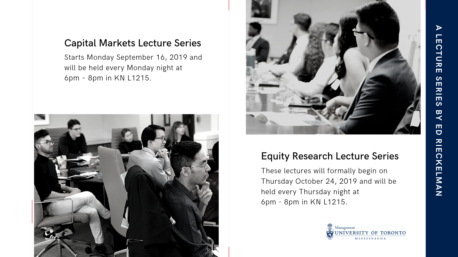 Capital markets and equity research lecture series