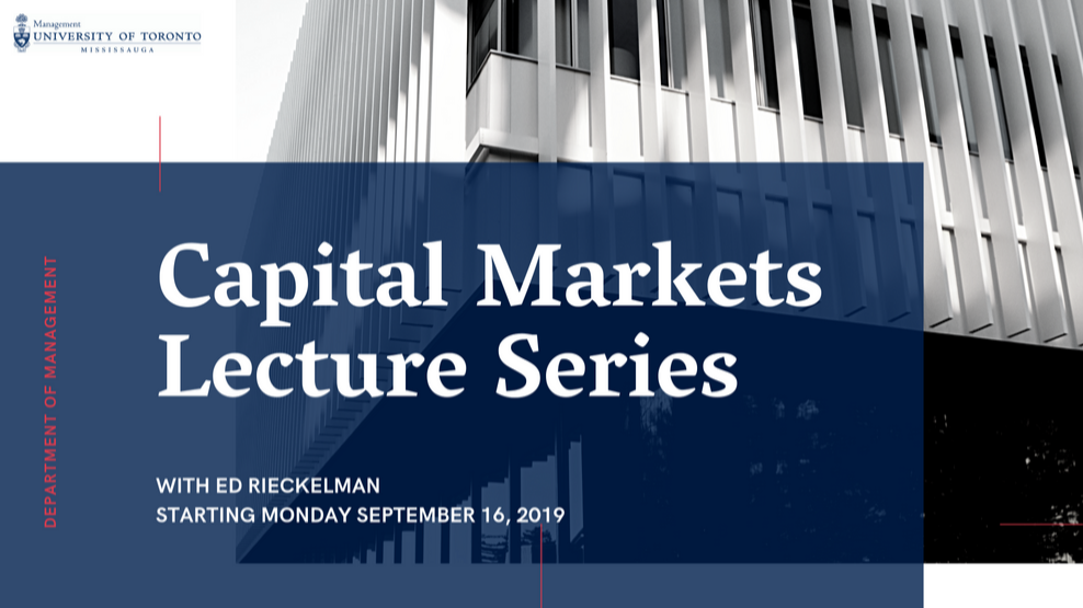 Capital Markets Lecture Series
