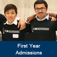 First Year Admissions