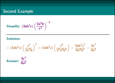 Precalculus Exponents and Radicals