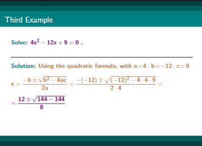 Precalculus Quadratic Equation