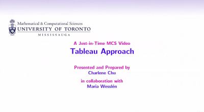 Tableau Approach video