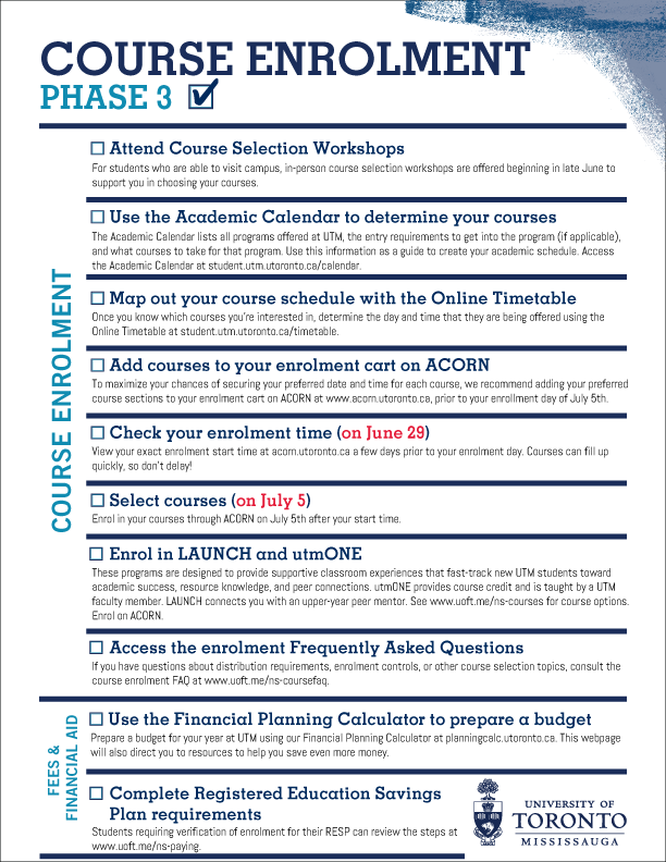 Image of Phase 3 checklist - click on image for downloadable version